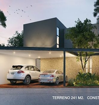 fachada de casa moderna de 10 metros