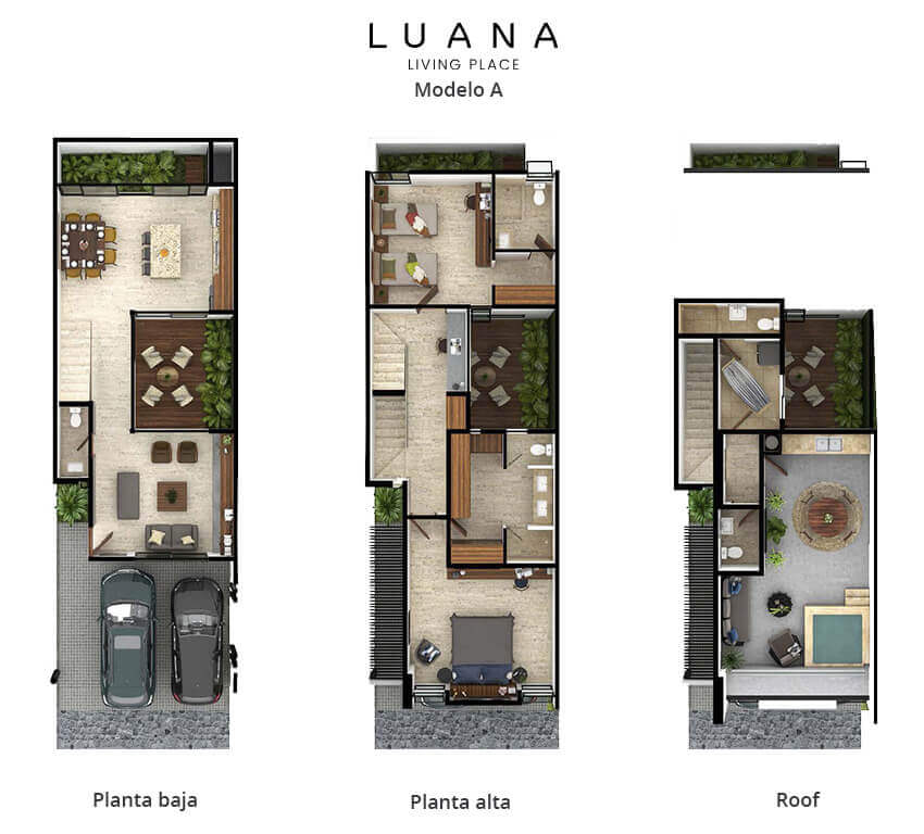 planos de casas de 6 x 20 metros